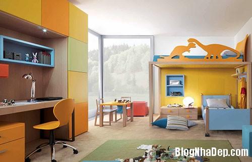 1fcb644dd49621b601a1593e92e0523e Chắc chắn bé cưng sẽ vô cùng thích thú trước những mẫu phòng ngủ đầy sắc màu như thế này