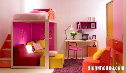 b9bedf6f7a37a4784a3c80235bf0da41 Chắc chắn bé cưng sẽ vô cùng thích thú trước những mẫu phòng ngủ đầy sắc màu như thế này
