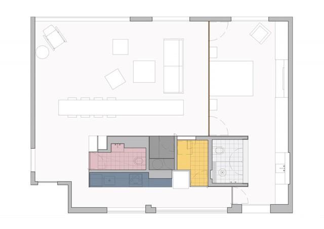 113 Thiết kế tối giản bỏ bớt tường khiến nhà 96 m2 trở nên thật rộng rãi
