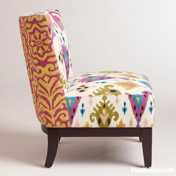 nha dep hon nho ghe boc da in hoa tiet 009 Những mẫu ghế da họa tiết sang trọng cho không gian phòng khách