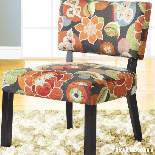 nha dep hon nho ghe boc da in hoa tiet 010 Những mẫu ghế da họa tiết sang trọng cho không gian phòng khách