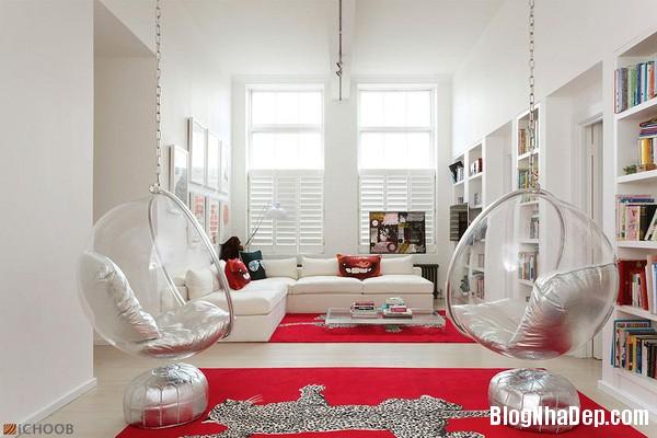 ghe treo 1 Bài trí ghế treo bong bóng cho không gian phòng khách thêm lãng mạn