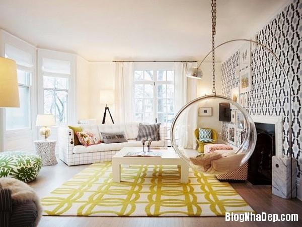 ghe treo 3 Bài trí ghế treo bong bóng cho không gian phòng khách thêm lãng mạn