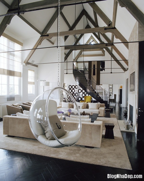 ghe treo 8 Bài trí ghế treo bong bóng cho không gian phòng khách thêm lãng mạn
