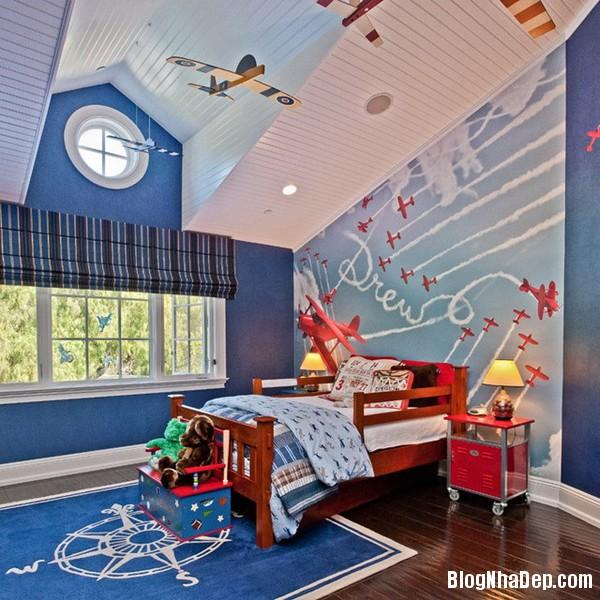 fc58696f6012456b6b4d9de6d51cfb3b Không gian phòng ngủ ấm cúng siêu cute cho bé trai