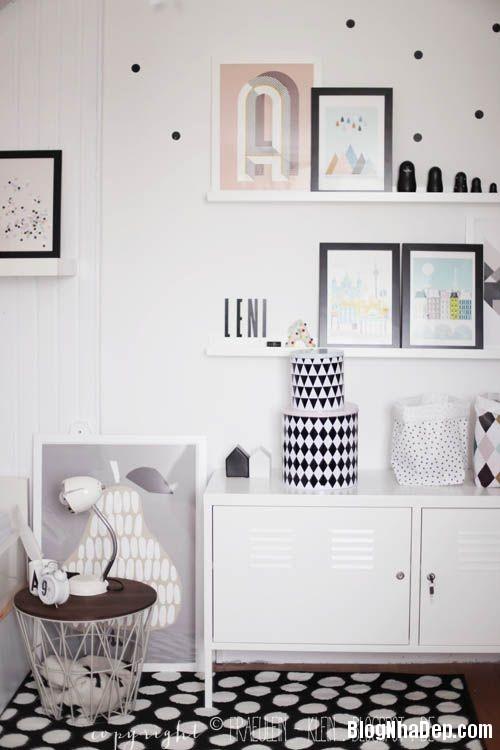 263f37a74e9f82cc1217a0ab8abef493 Trang trí phòng trẻ em đẹp mắt với hai gam màu đen và trắng