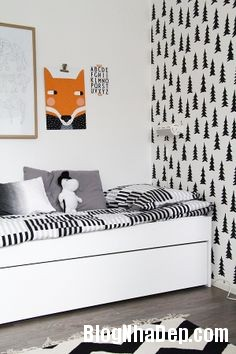 2aecfab9ccc2e173c35352011f244881 Trang trí phòng trẻ em đẹp mắt với hai gam màu đen và trắng
