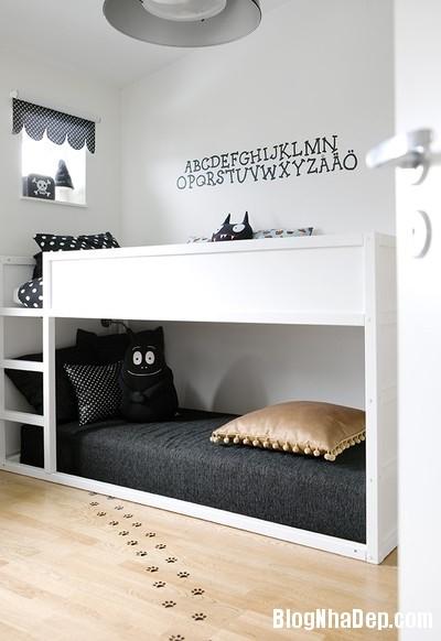 898de37ef3fe2ffb0966389c1f028209 Trang trí phòng trẻ em đẹp mắt với hai gam màu đen và trắng