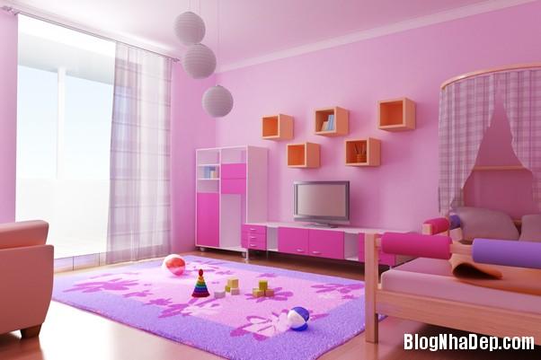 1b6c303b443e1727e1d06133eabecc2b Trang trí sắc màu tươi sáng cho phòng ngủ của thiên thần