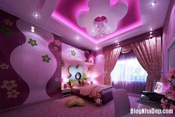 b056bb408fc14f830ba20eb2d9def52e Trang trí sắc màu tươi sáng cho phòng ngủ của thiên thần