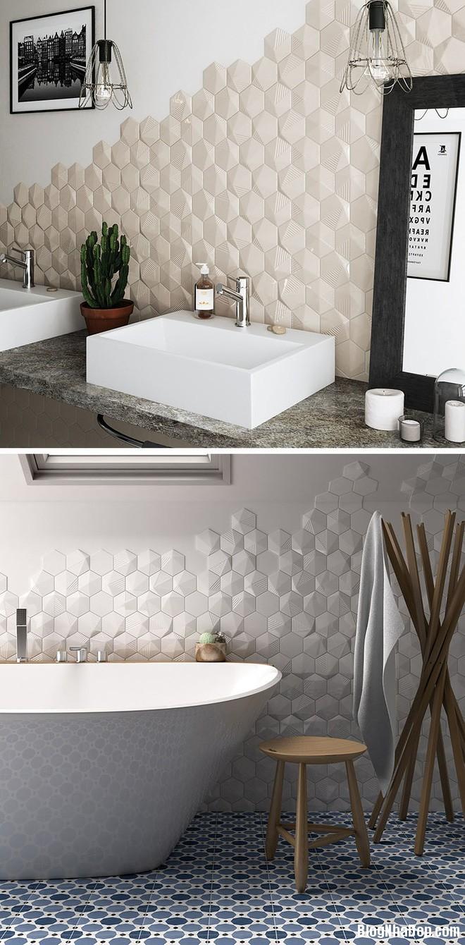 img20170614085138734 Sáng bừng không gian phòng tắm với gạch đá lát tường 3D