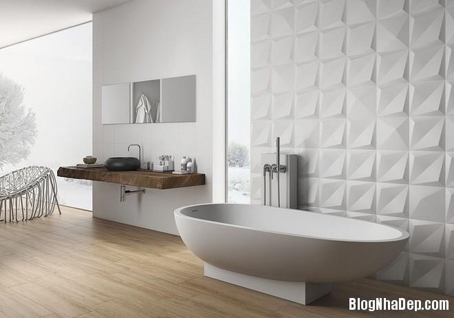 img20170614085139093 Sáng bừng không gian phòng tắm với gạch đá lát tường 3D