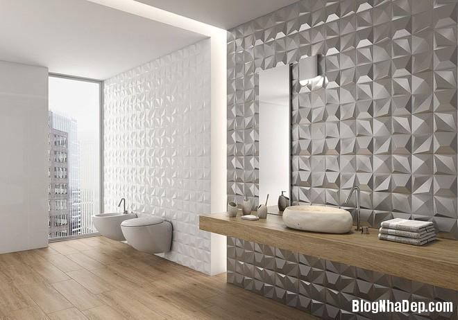 img20170614085139421 Sáng bừng không gian phòng tắm với gạch đá lát tường 3D