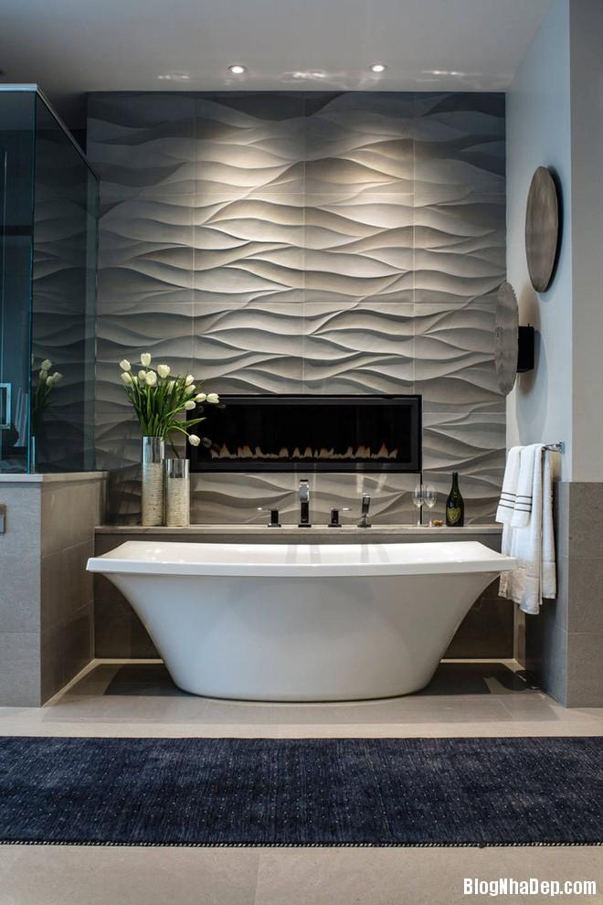 img20170614085141578 Sáng bừng không gian phòng tắm với gạch đá lát tường 3D