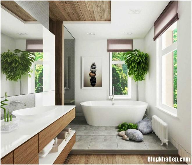 img20170526142947118 'Xanh hóa' không gian phòng tắm đem lại cảm giác bình yên