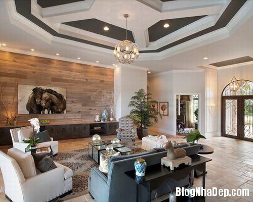 153449baoxaydung image006 Trang trí bức tường gỗ cho không gian phòng khách thêm ấm áp