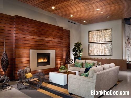 153449baoxaydung image011 Trang trí bức tường gỗ cho không gian phòng khách thêm ấm áp