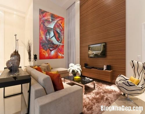153449baoxaydung image012 Trang trí bức tường gỗ cho không gian phòng khách thêm ấm áp