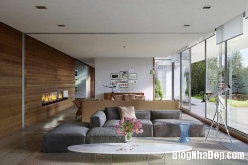 153449baoxaydung image013 Trang trí bức tường gỗ cho không gian phòng khách thêm ấm áp