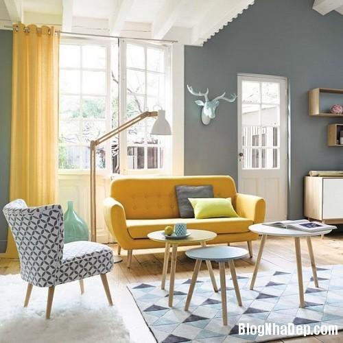 205302baoxaydung image001 Phối gam màu ghi vàng trang nhã cho không gian nhà nhỏ