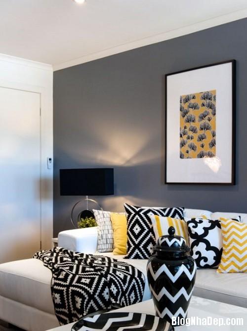 205305baoxaydung image003 Phối gam màu ghi vàng trang nhã cho không gian nhà nhỏ