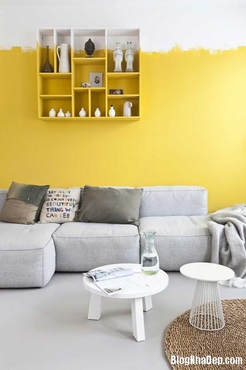 205308baoxaydung image005 Phối gam màu ghi vàng trang nhã cho không gian nhà nhỏ