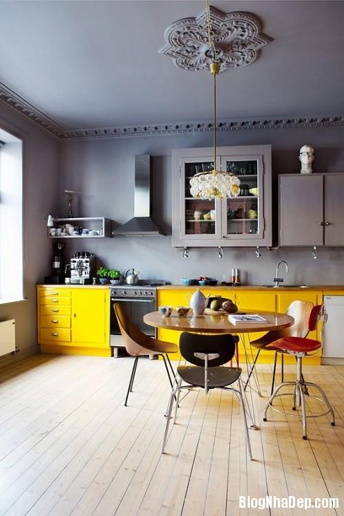 205315baoxaydung image009 Phối gam màu ghi vàng trang nhã cho không gian nhà nhỏ