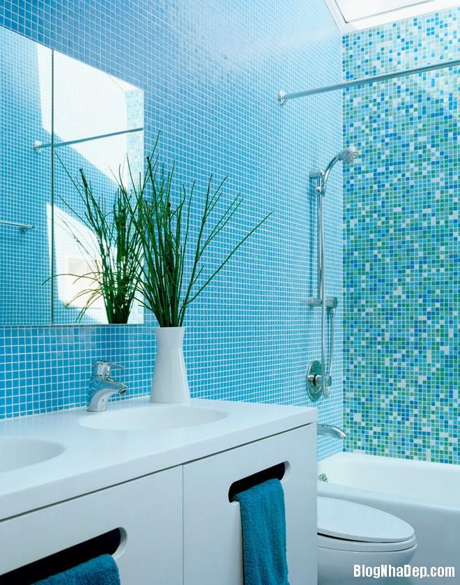 1013 Phòng tắm xanh – trắng mát lịm thách thức cái nắng oi bức mùa hè