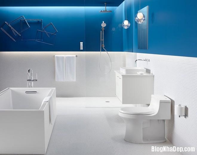 1118 Phòng tắm xanh – trắng mát lịm thách thức cái nắng oi bức mùa hè