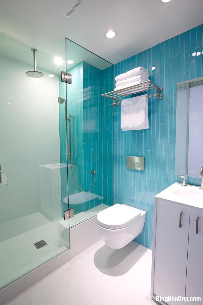 618 Phòng tắm xanh – trắng mát lịm thách thức cái nắng oi bức mùa hè