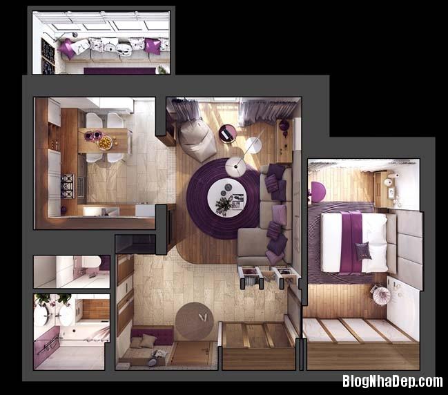 082215 11 large Mẫu căn hộ 1 phòng ngủ đẹp ấm cúng pha chút lãng mạn