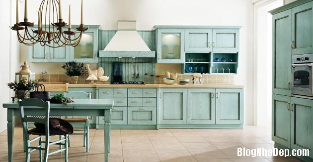 bep mau ngoc lam 16 Những căn bếp màu ngọc lam đẹp hài hòa và sang trọng