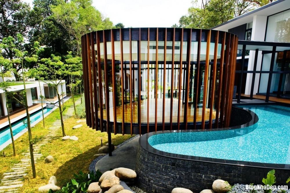 Mau Nha Dep 13302 Mẫu nhà đẹp với không gian sân vườn rộng rãi