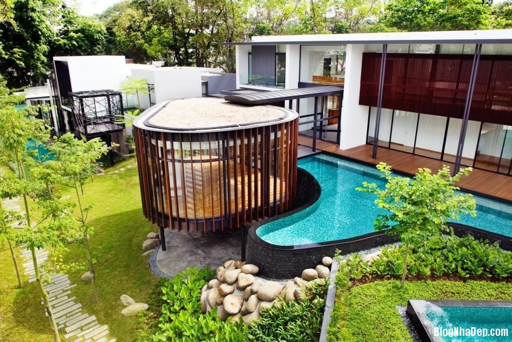 Mau Nha Dep 13303 Mẫu nhà đẹp với không gian sân vườn rộng rãi