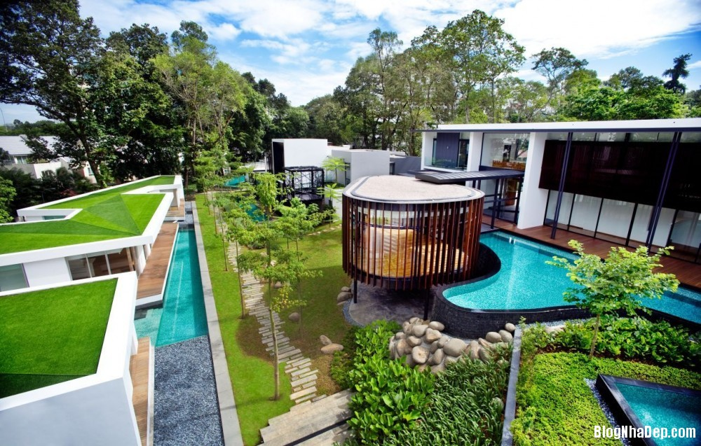 Mau Nha Dep 13304 Mẫu nhà đẹp với không gian sân vườn rộng rãi