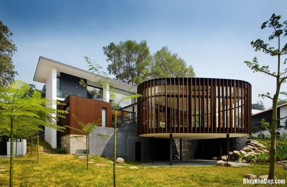 Mau Nha Dep 13307 Mẫu nhà đẹp với không gian sân vườn rộng rãi