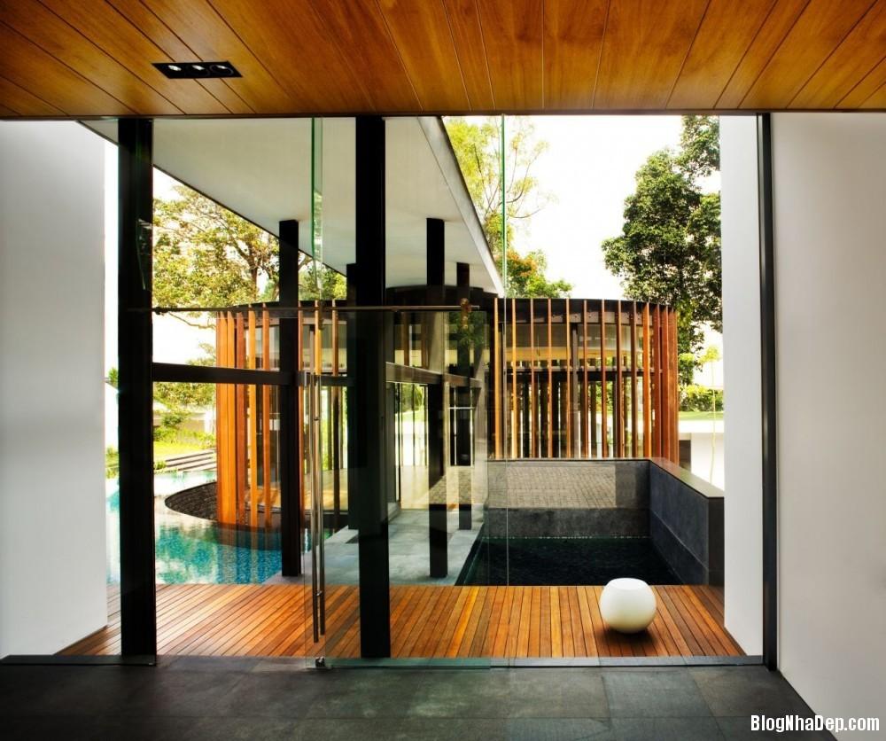 Mau Nha Dep 13311 Mẫu nhà đẹp với không gian sân vườn rộng rãi