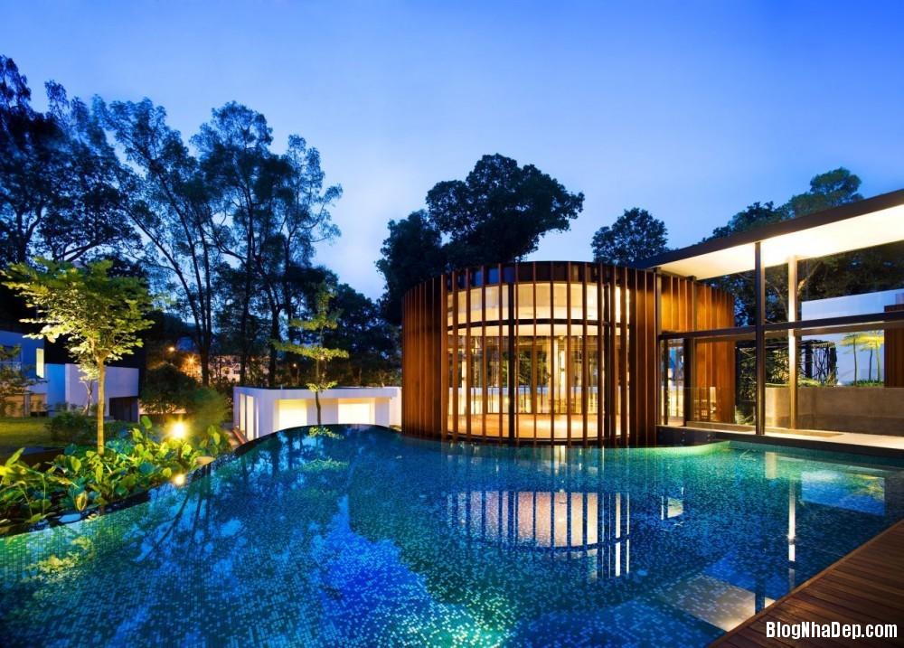 Mau Nha Dep 13315 Mẫu nhà đẹp với không gian sân vườn rộng rãi