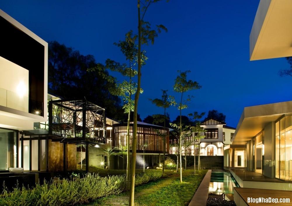 Mau Nha Dep 13318 Mẫu nhà đẹp với không gian sân vườn rộng rãi
