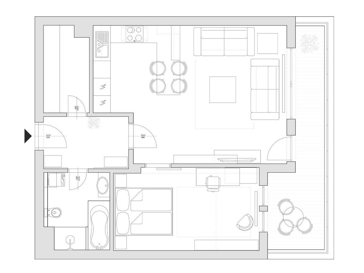 Mau Thiet Ke Nha Dep 11114 Mẫu nhà nhỏ đẹp với hai phòng