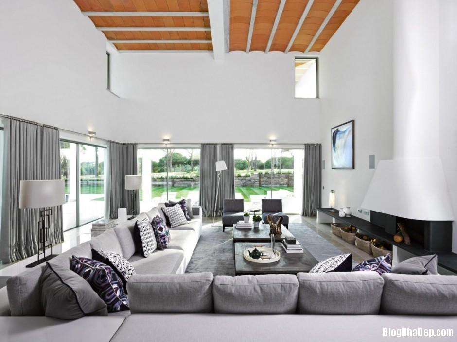 Mau Thiet Ke Nha Dep North House 07512 Mẫu nhà đẹp cạnh sân golf tại Bồ Đào Nha