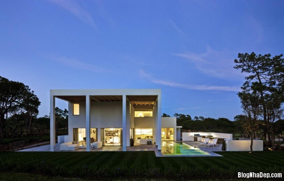 Mau Thiet Ke Nha Dep North House 0752 Mẫu nhà đẹp cạnh sân golf tại Bồ Đào Nha