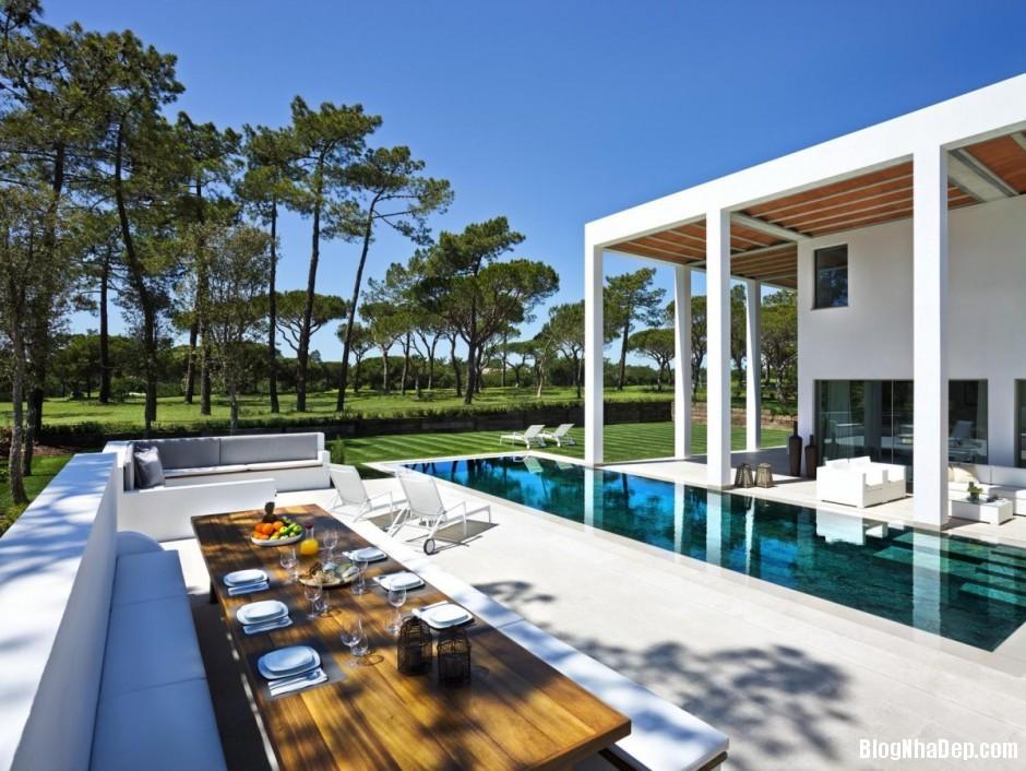Mau Thiet Ke Nha Dep North House 0759 Mẫu nhà đẹp cạnh sân golf tại Bồ Đào Nha