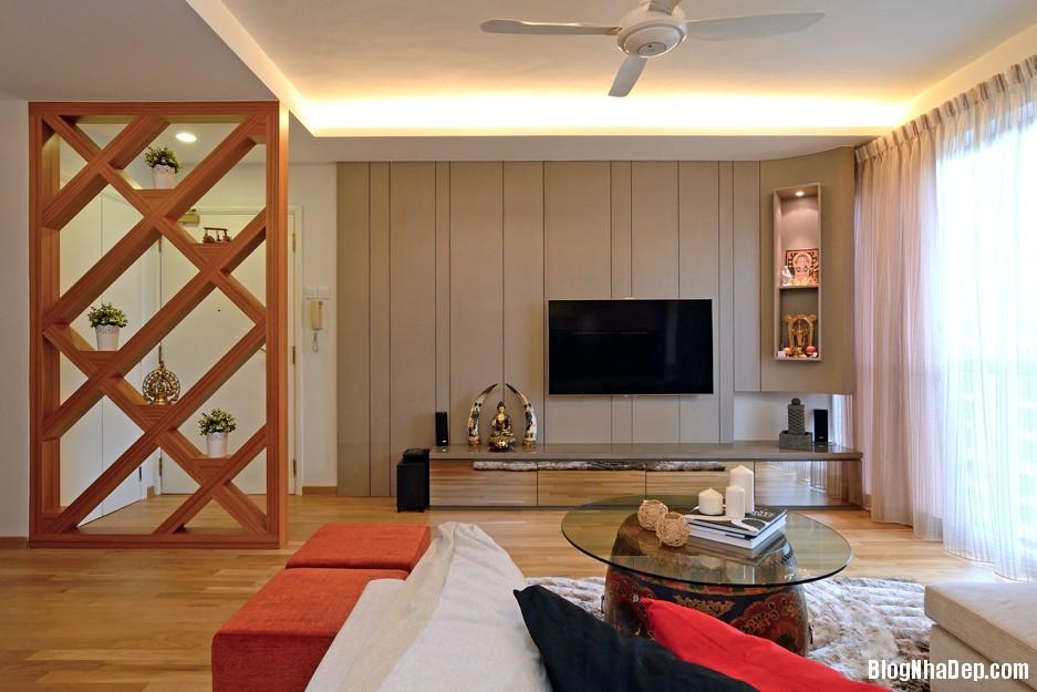 Mau Thiet Ke Nha Dep Va Am Cung 0901 Mẫu nhà chung cư ấm cúng cho vợ chồng trẻ