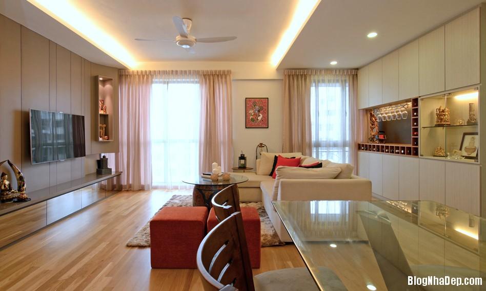 Mau Thiet Ke Nha Dep Va Am Cung 0902 Mẫu nhà chung cư ấm cúng cho vợ chồng trẻ