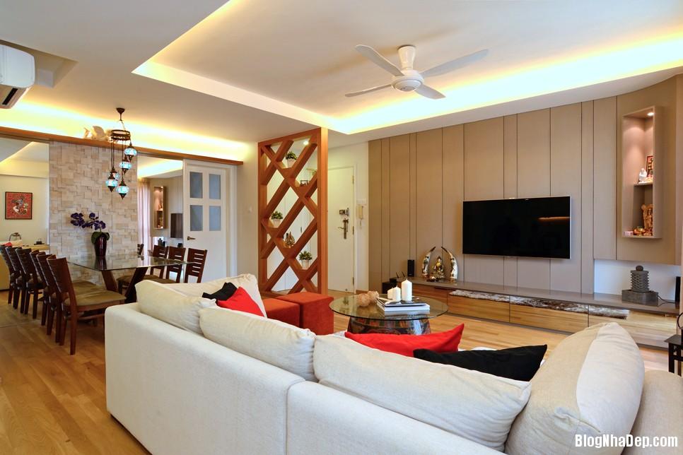 Mau Thiet Ke Nha Dep Va Am Cung 0903 Mẫu nhà chung cư ấm cúng cho vợ chồng trẻ
