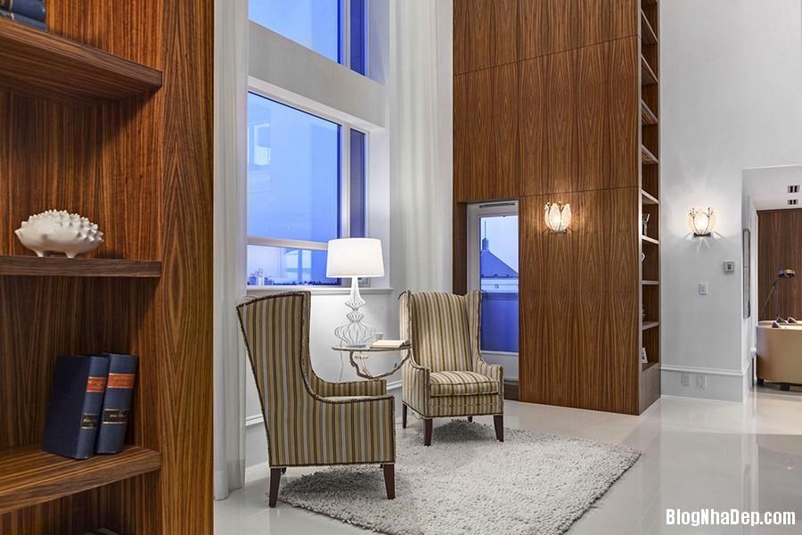 Mau Thiet Ke Nha Penthouse Elysium 0272 Mẫu nhà đẹp với trần nhà cao và cửa sổ hình mái vòm