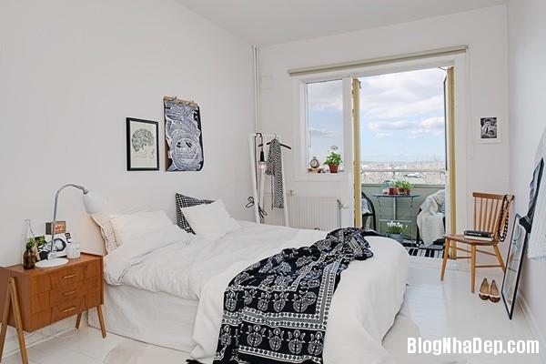can ho nho thiet ke dep 12 Ghé thăm căn hộ 41m² với tông màu đen   trắng