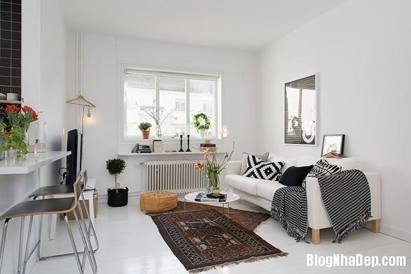 can ho nho thiet ke dep 2 Ghé thăm căn hộ 41m² với tông màu đen   trắng