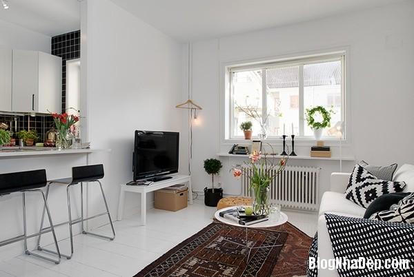 can ho nho thiet ke dep 5 Ghé thăm căn hộ 41m² với tông màu đen   trắng